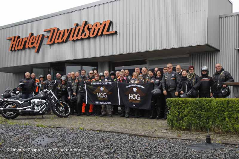 Group photo Harley Davidson Dealer Dutch Hills in Kerkrade